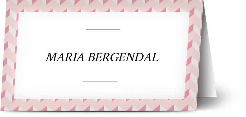 Placeringskort, geometrisk, mönster, ränder, rosa, placeringskort, vikt, Optimalprint