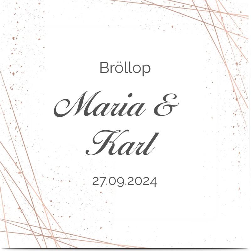 Inbjudningskort till bröllop, geometrisk, glitter , linjer, prickar, grå, kvadratiskt, enkelt, Optimalprint