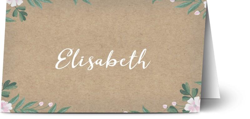 Placeringskort, konstpapper, blomma, löv, naturlig, brun, placeringskort, vikt, Optimalprint